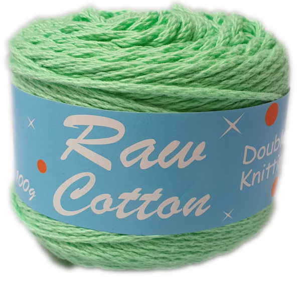 RAW COTTON D.K DYED 100g-COL.075 MINT 1