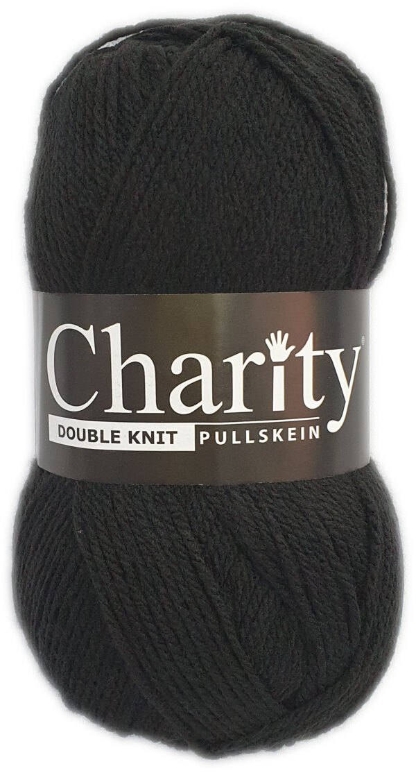 CHARITY PULLSKEIN DOUBLE KNIT-COL.017 BLACK 1