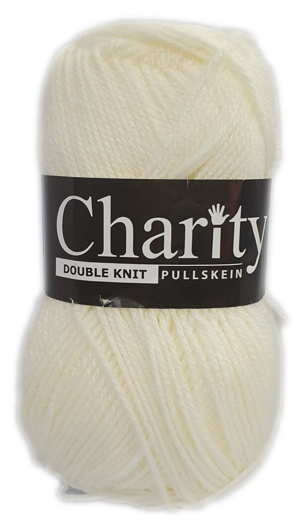 CHARITY PULLSKEIN DOUBLE KNIT-COL.105 PORCELAIN 1
