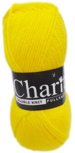 CHARITY PULLSKEIN DOUBLE KNIT-COL.139 BRIGHT YELLOW 4