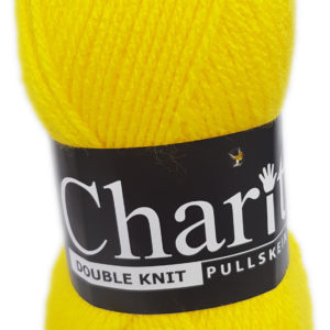 CHARITY PULLSKEIN DOUBLE KNIT-COL.139 BRIGHT YELLOW 5