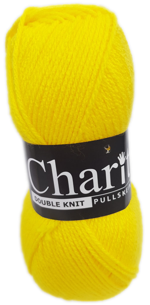 CHARITY PULLSKEIN DOUBLE KNIT-COL.139 BRIGHT YELLOW 1