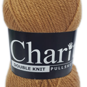 CHARITY PULLSKEIN DOUBLE KNIT-COL.145 CAMEL 10