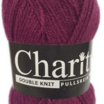 CHARITY PULLSKEIN DOUBLE KNIT-COL.283 CRANBERRY 3