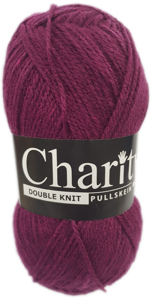 CHARITY PULLSKEIN DOUBLE KNIT-COL.147 MAGENTA 1