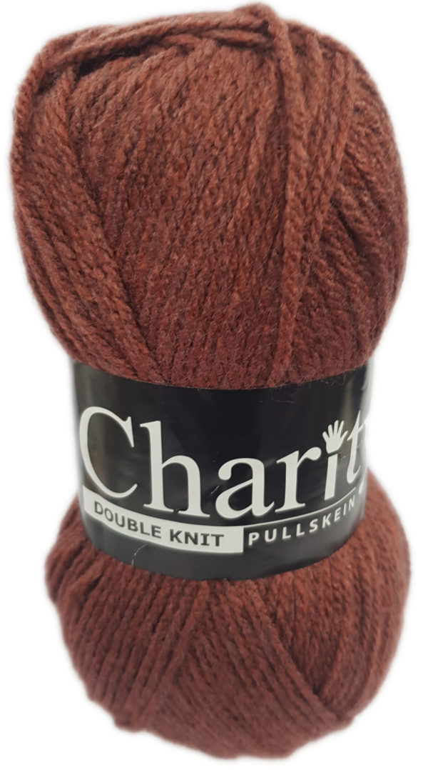 CHARITY PULLSKEIN DOUBLE KNIT-COL.294 RUST 1