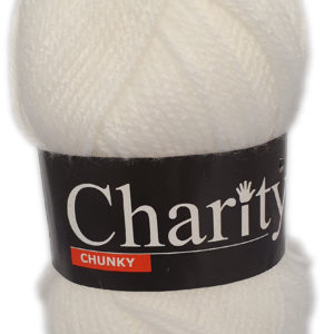 CHARITY CHUNKY 100g-COL.001 WHITE 15