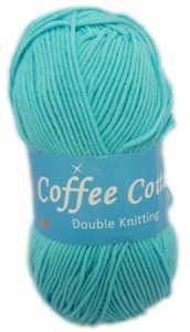 COFFEE COTTON 100g-COL.092 TURQUOISE 4