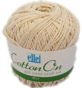 COTTON ON 4 PLY 100g-COL.014 NATURAL 4