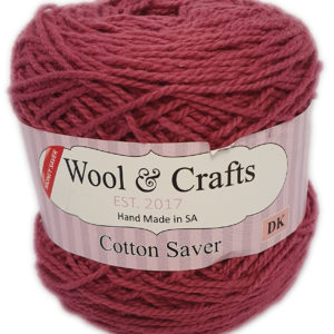 WOOL & CRAFT COTTON SAVER 100g-COL.17 WINE 8