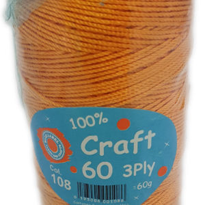 CRAFT 60 3 PLY 60g-COL.108 GOLD 12