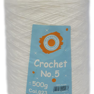CROCHET No.5 CONE 500g-COL.023 WHITE 12