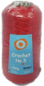 CROCHET No.5 CONE 250g-COL.13 RED 4