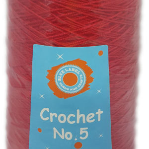 CROCHET No.5 CONE 250g-COL.13 RED 12