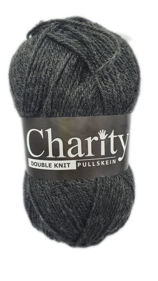 CHARITY PULLSKEIN DOUBLE KNIT-COL.073 CHARCOAL 1