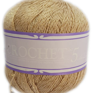 CROCHET No.5 WITH LUREX 50g-COL.025 HONEY SHEEN 10