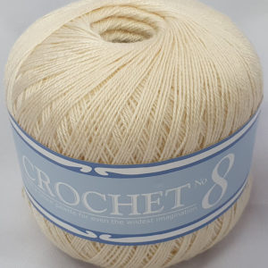 CROCHET No.8 BALL 50g-COL.014 CREAM 5