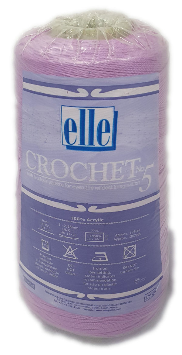 CROCHET No.5 CONES 250g-COL.101 GRAPE 1