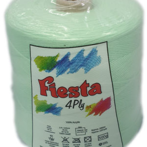 FIESTA 4 PLY CONE 500g-COL.028 APPLE GREEN 10