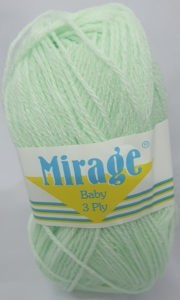 MIRAGE BABY 3 PLY 25g-COL.022 BABY GREEN 4