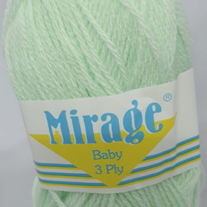 MIRAGE BABY 3 PLY 25g-COL.022 BABY GREEN 7