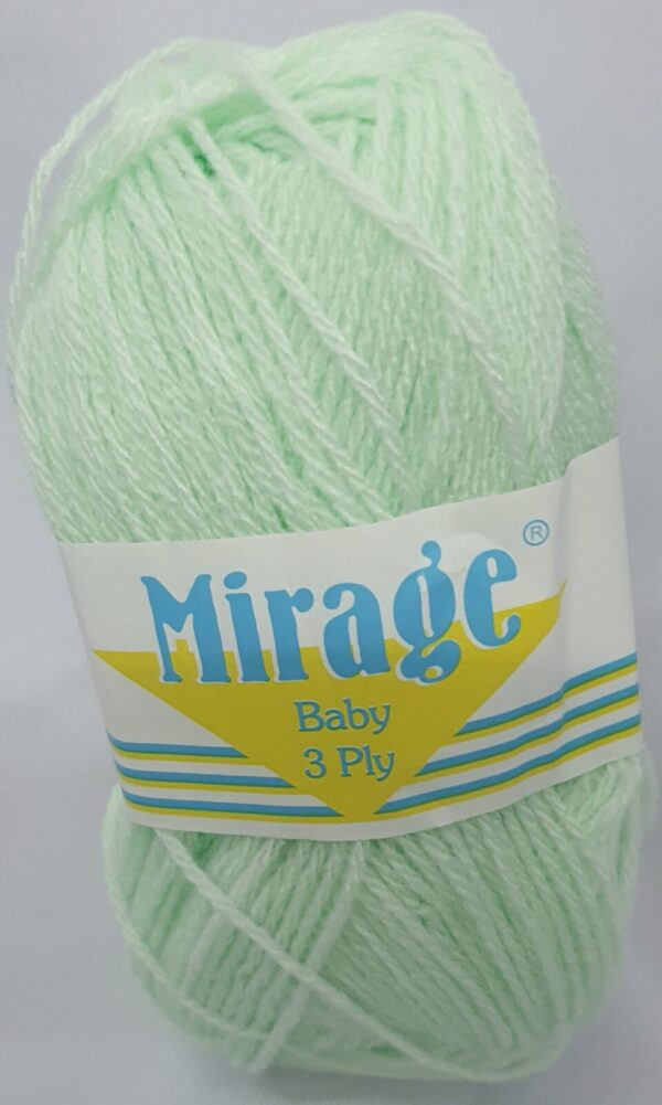 MIRAGE BABY 3 PLY 25g-COL.022 BABY GREEN 1