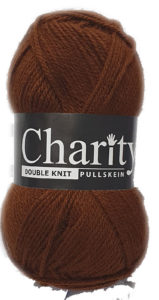 CHARITY PULLSKEIN DOUBLE KNIT-COL.171 MARRON BROWN 4