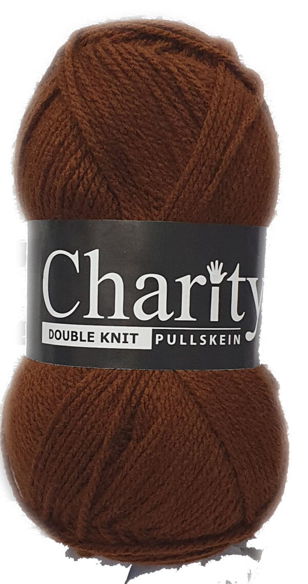CHARITY PULLSKEIN DOUBLE KNIT-COL.171 MARRON BROWN 1