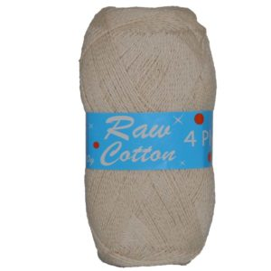 RAW COTTON 4 PLY  NATURAL 250g 12