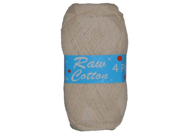 RAW COTTON 4 PLY  NATURAL 250g 1