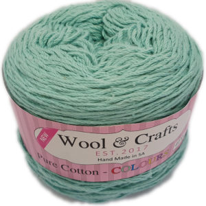 WOOL & CRAFTS PURE COTTON 4 PLY 100g-COL.019 DUCK EGG 10