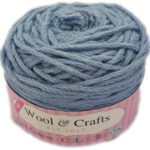 WOOL & CRAFTS PURE COTTON D.K 100g-COL.10 BROWN 2