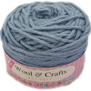 WOOL & CRAFTS PURE COTTON CHUNKY 100g-COL.009 DENIM BLUE 13
