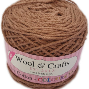 WOOL & CRAFTS PURE COTTON D.K 100g-COL.10 BROWN 10