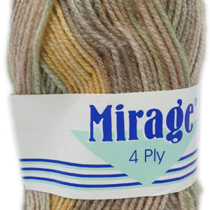 MIRAGE 4 PLY PRINT 25g-COL.307 APPLE CRUMBLE 7