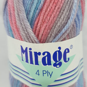 MIRAGE 4 PLY PRINT 25g-COL.310 BERRY GUMMIES 12