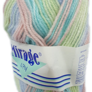 MIRAGE 4 PLY PRINT 25g-COL.306 LIME JELLO 14