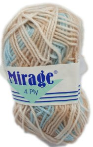 MIRAGE 4 PLY PRINT 25g-COL.303 CINNAMON SNAP 4