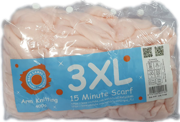 3 XL ARM KNITTING 400g-COL.018 BABY PINK 1