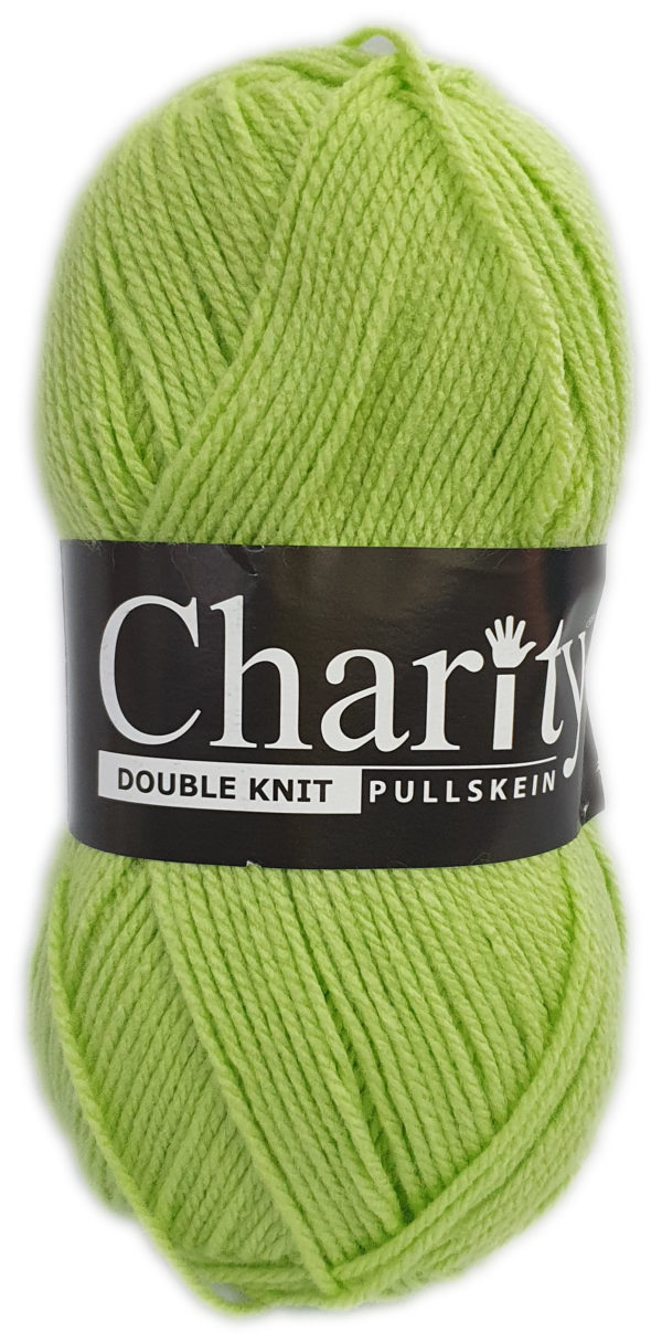 CHARITY PULLSKEIN DOUBLE KNIT-COL.081 LIME DROP 1