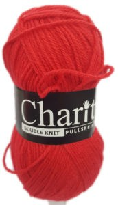 CHARITY PULLSKEIN DOUBLE KNIT-COL.136 RED 4