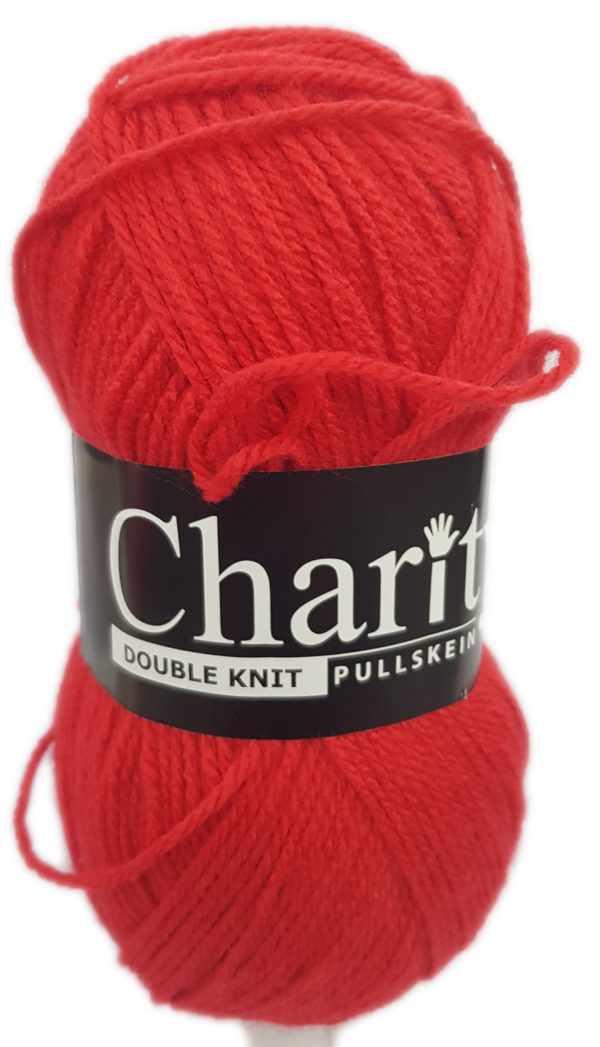 CHARITY PULLSKEIN DOUBLE KNIT-COL.136 RED 1