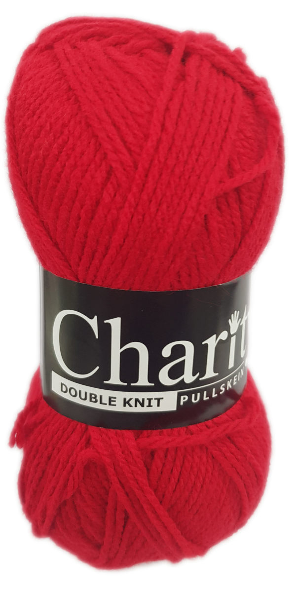 CHARITY PULLSKEIN DOUBLE KNIT-COL.169 CHERRY RED 1