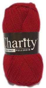 CHARITY PULLSKEIN DOUBLE KNIT-COL.040 CLARET 4