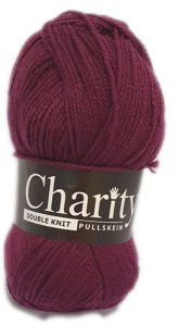 CHARITY PULLSKEIN DOUBLE KNIT-COL.101 GRAPE 4