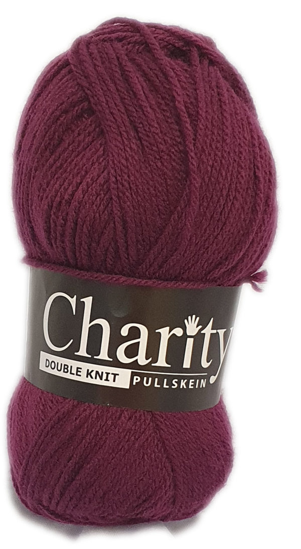 CHARITY PULLSKEIN DOUBLE KNIT-COL.101 GRAPE 1