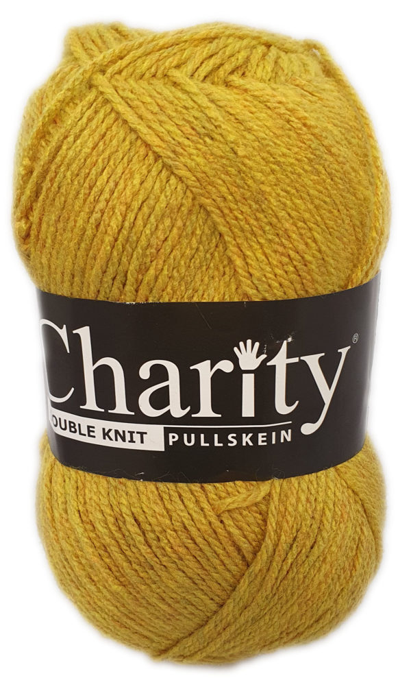CHARITY PULLSKEIN DOUBLE KNIT-COL.135 MUSTARD 1