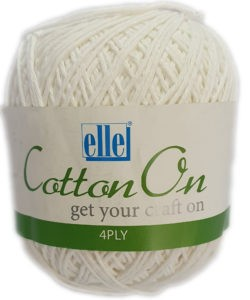 COTTON ON 4 PLY 100g-COL.001 WHITE 4