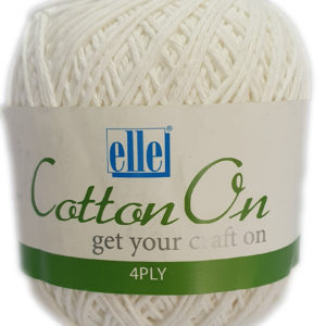 COTTON ON 4 PLY 100g-COL.001 WHITE 2