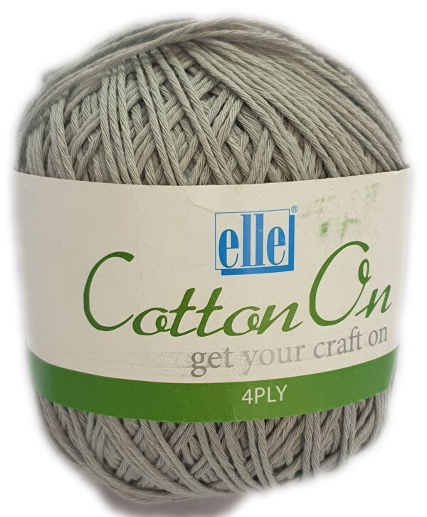 COTTON 4 PLY 100g-COL.711 ICED GREY 1